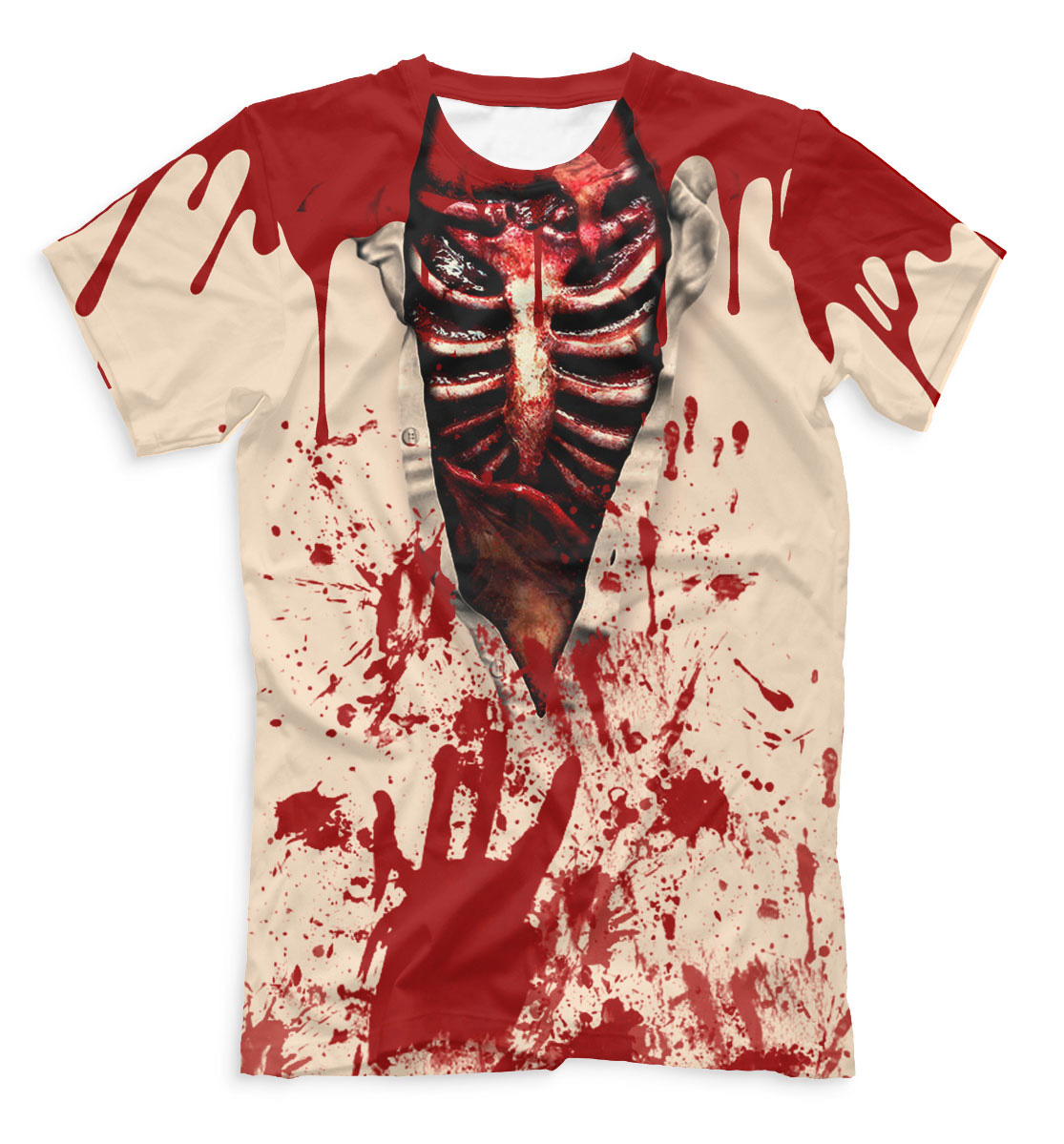 full printed men s t shirt horror quantum boutique