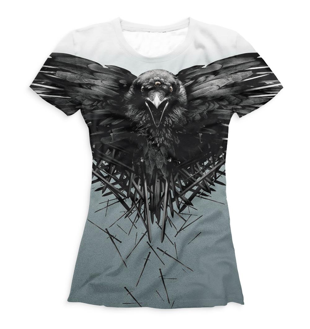 Full printed women 39 s t shirt game of thrones quantum for Full t shirt printing