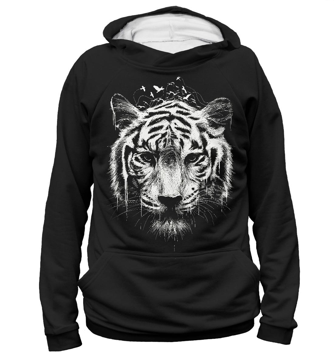 e46616b954f288 Tiger Print Women s Hoodie – Quantum Boutique