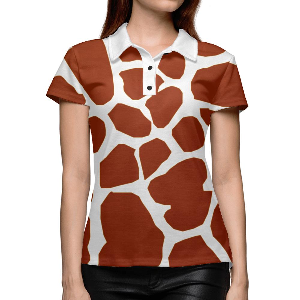 2abeaaa93fe36a Giraffe Texture Women s Polo Shirt – Quantum Boutique