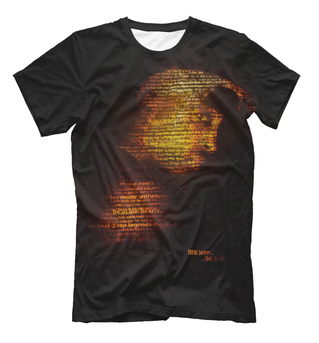 Full printed men s t shirt 2pac lothing store for Printed shirts for mens
