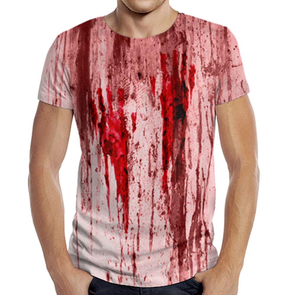 Full printed men 39 s t shirt horror quantum boutique for Full t shirt printing