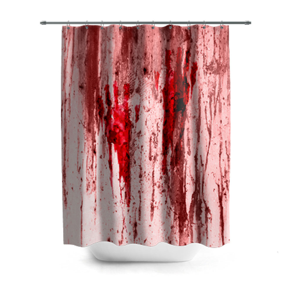 Bloody Prints Shower Curtain