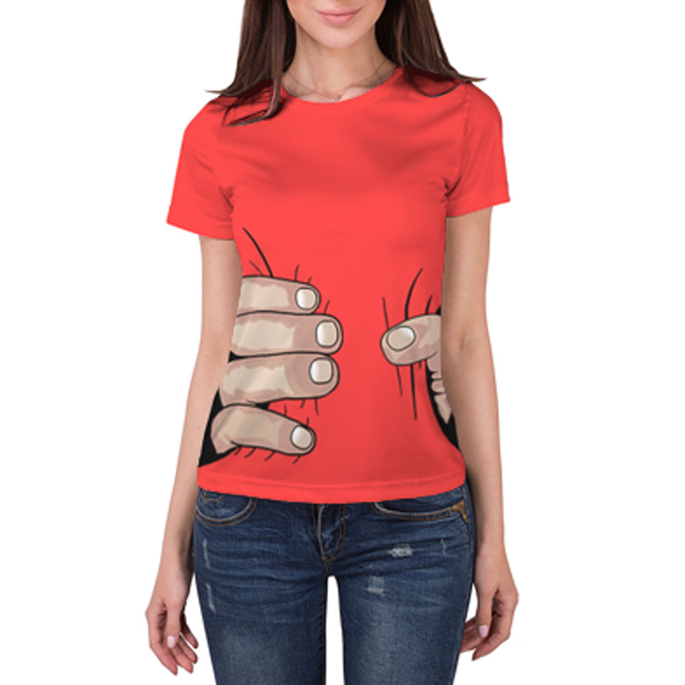 Full printed women s t shirt hand lothing store for Full hand t shirts for womens