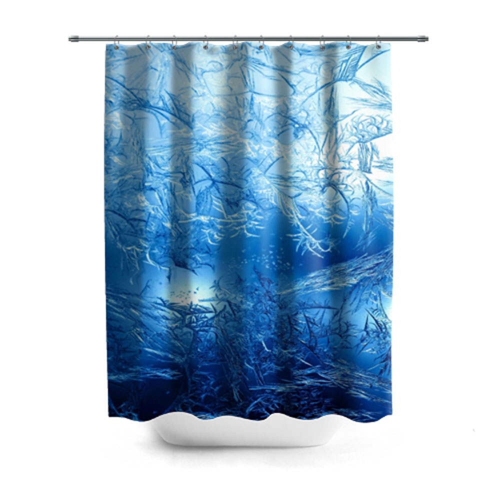 Frosty Pattern Shower Curtain – Сlothing Store \