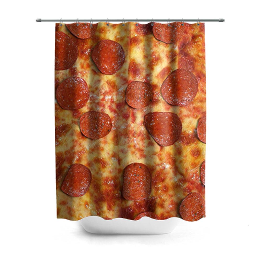 Pizza Pattern Shower Curtain Lothing Store Quantum Boutique