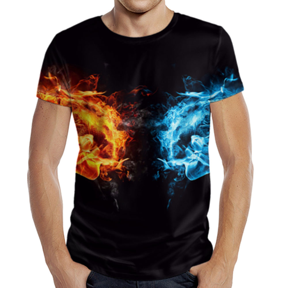 Ice And Fire Design Mens T Shirt Lothing Store Quantum Boutique