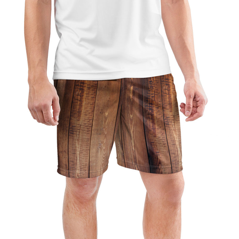 Full Printed Cool Men S Sports Shorts Parquet