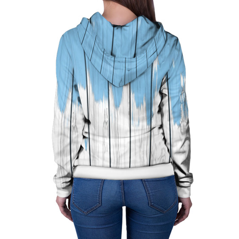 """Full Printed Cool Women's Hoodie with Zipper, """"Paints ..."""
