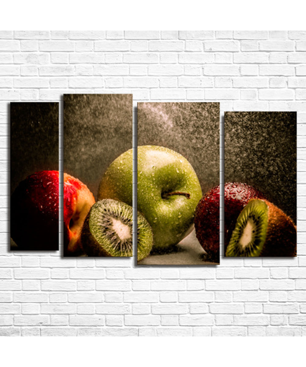 Wall Art Decor Picture Modular Canvas Apples And Kiwis сlothing