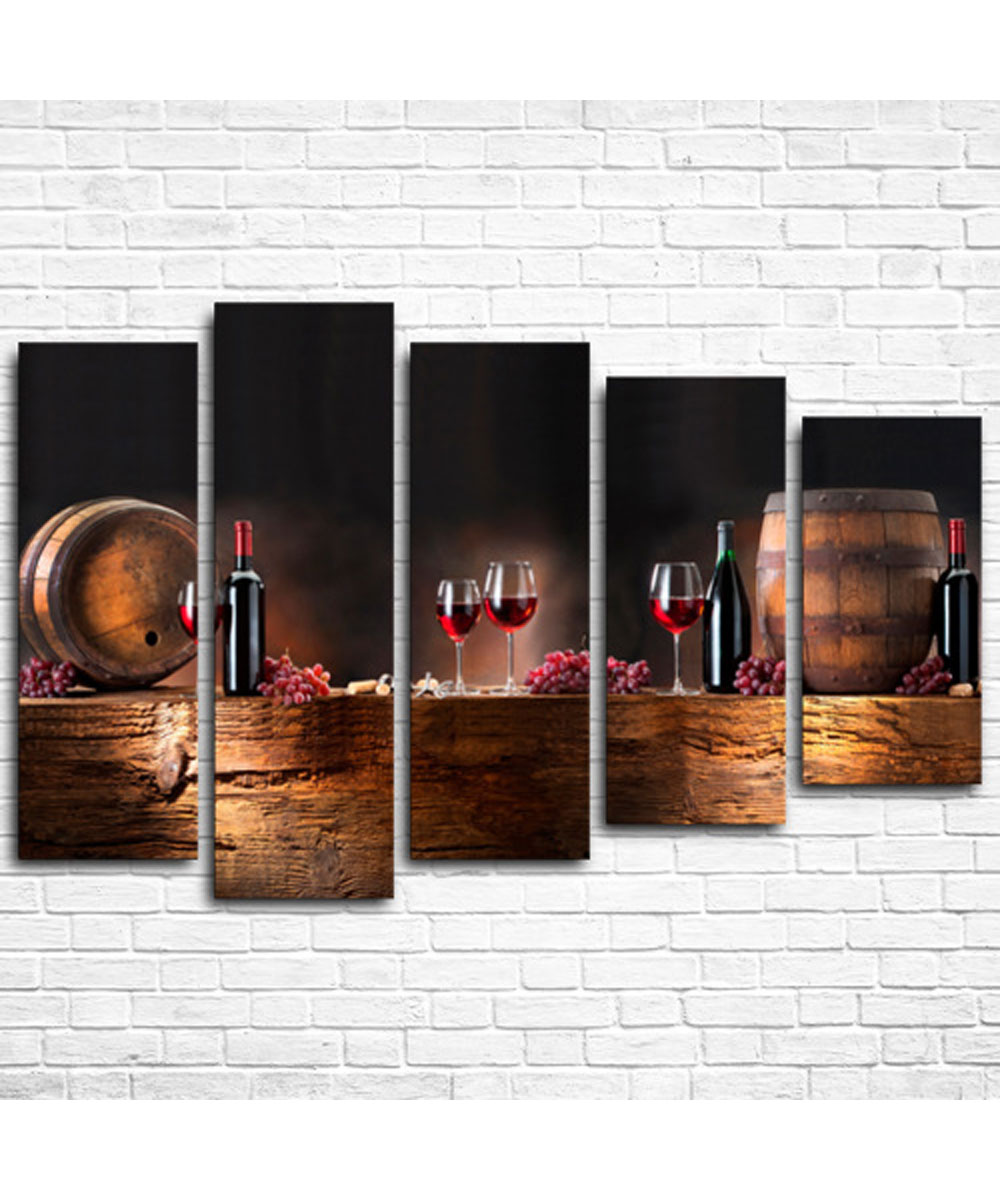 Wall Art Decor Picture Modular Canvas Wine Vault сlothing Store