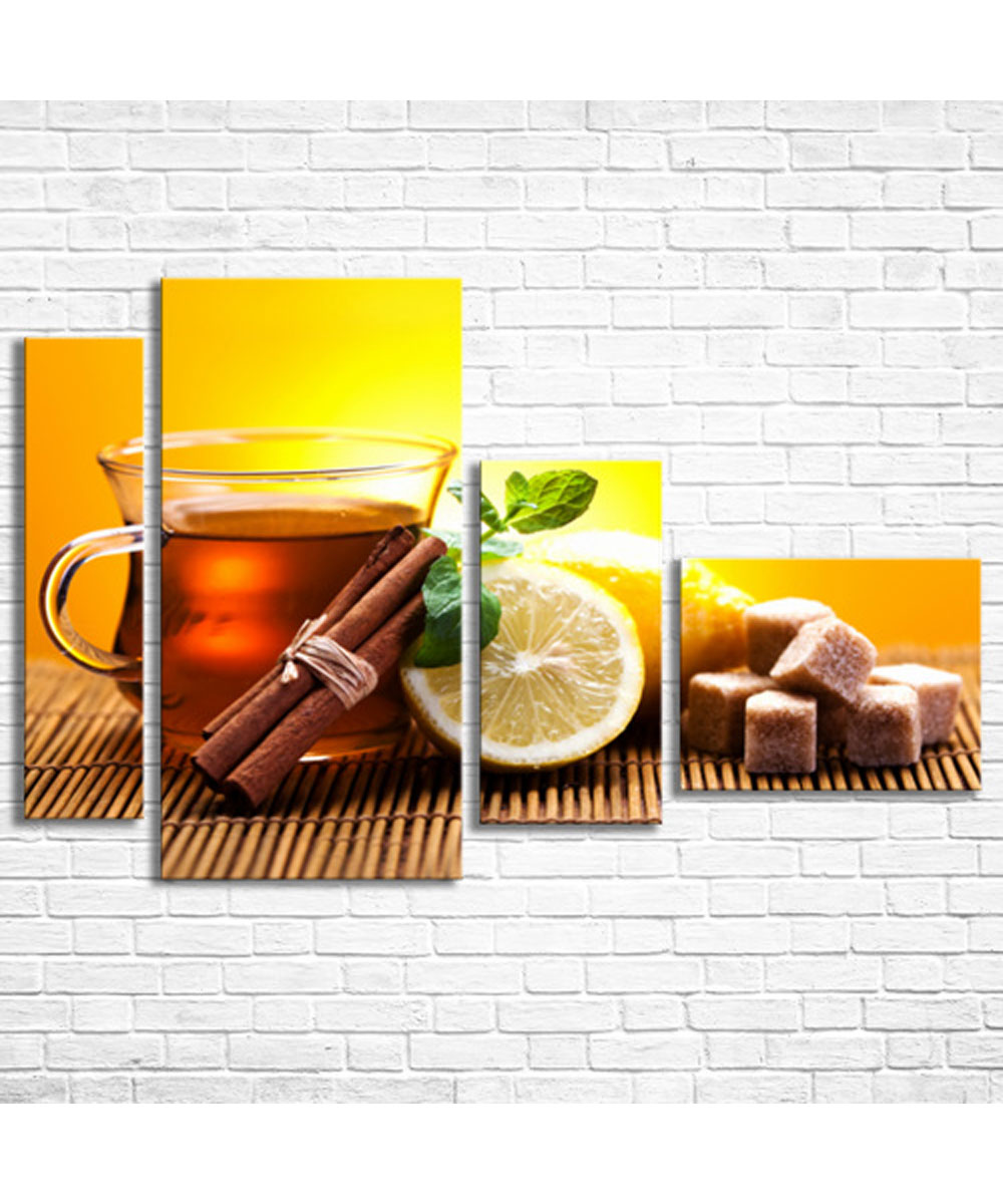 "Wall Art Decor Picture, Modular Canvas ""Tea with Lemon"" – Сlothing ..."