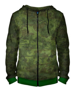 97ad7b56f31532 Camouflage Texture Hoodie with Zipper – Quantum Boutique
