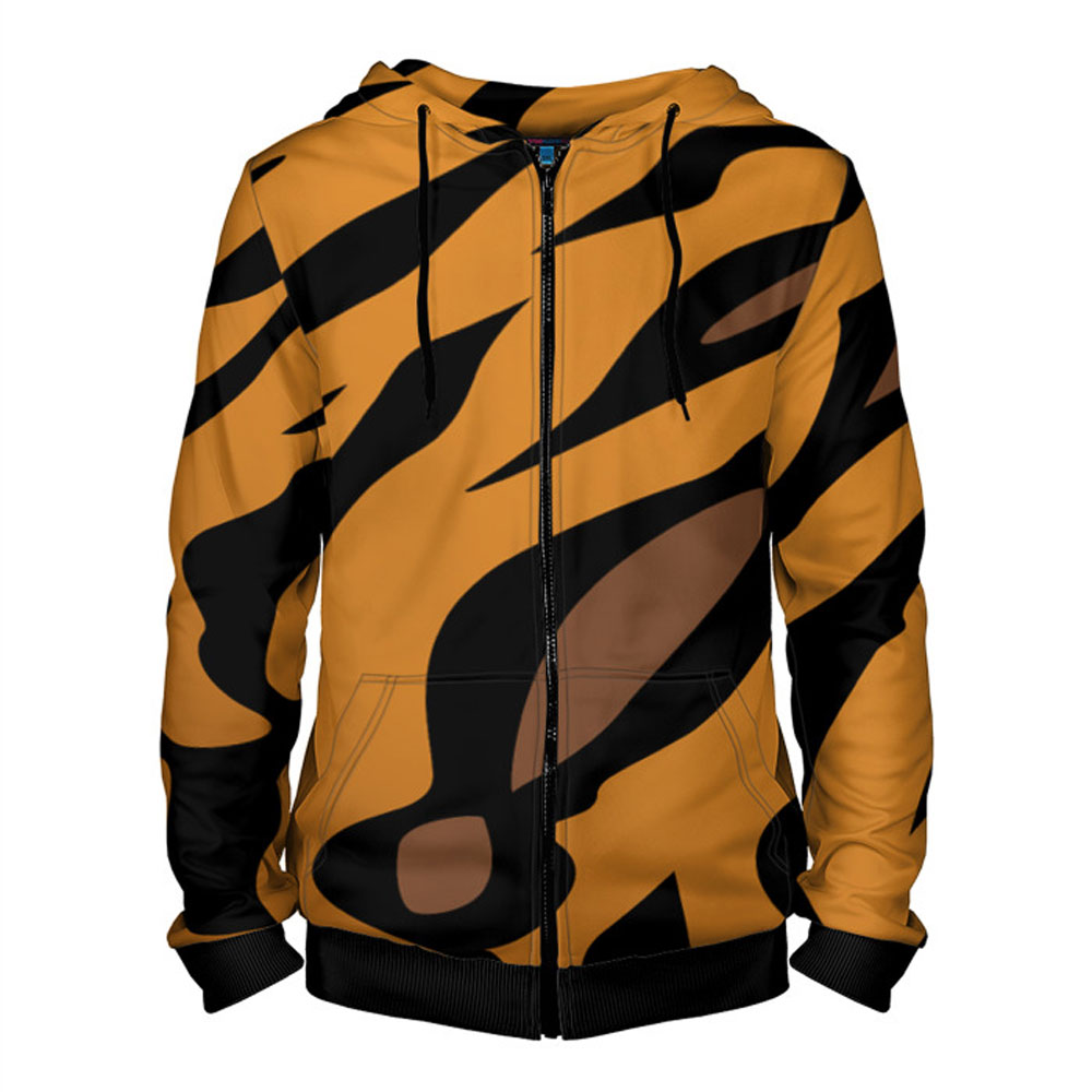 02e03c7dbc9347 Wool of Tiger Hoodie with Zipper for Men – Quantum Boutique
