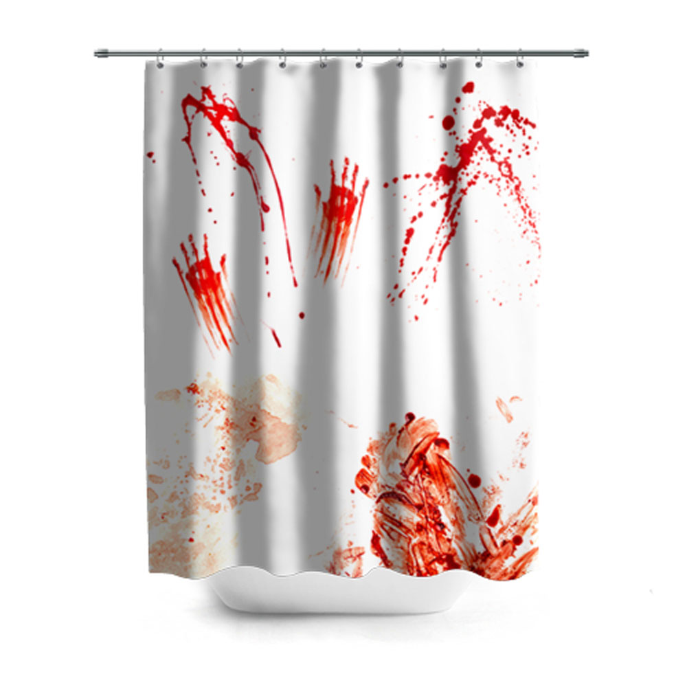 Bloody Prints Design Shower Curtain