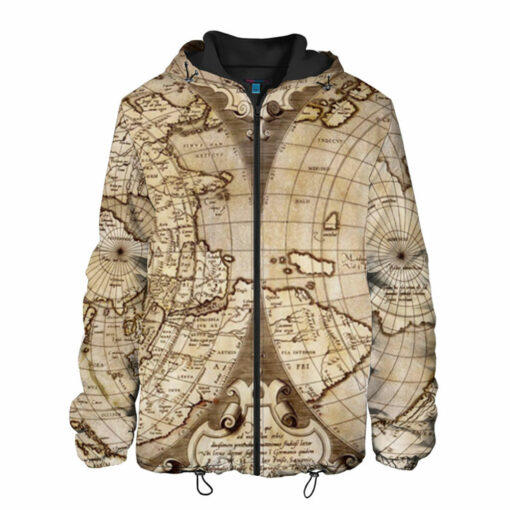World Map Design Hot Style 3D Men\'s Jacket