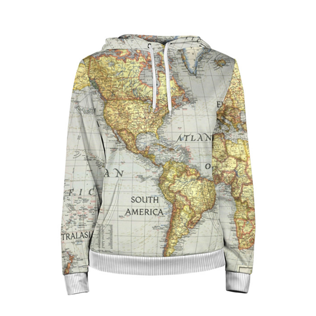 World Map Women S Hoodie Slothing Store Quantum Boutique