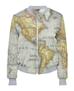 Full printed 3d womens bomber world map lothing store the product is already in the wishlist browse wishlist gumiabroncs Choice Image