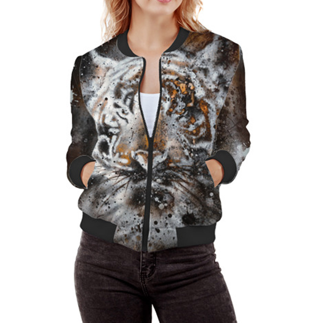 3069515c70e3de Tiger Women s Bomber Jacket – Quantum Boutique