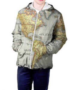 World Map Men\'s Jacket