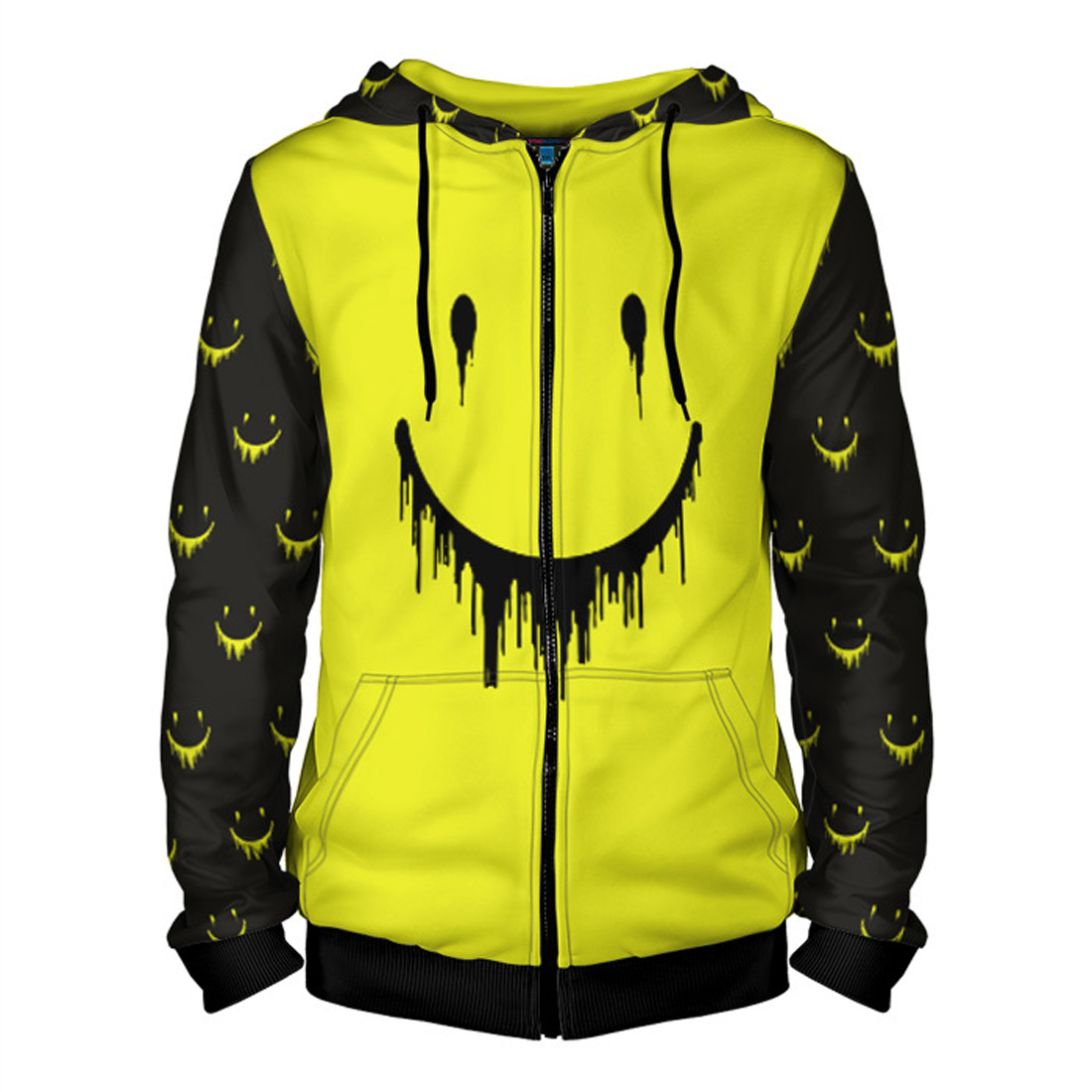 e94a15351c32f Smiley Men's Hoodie with Zipper – Quantum Boutique