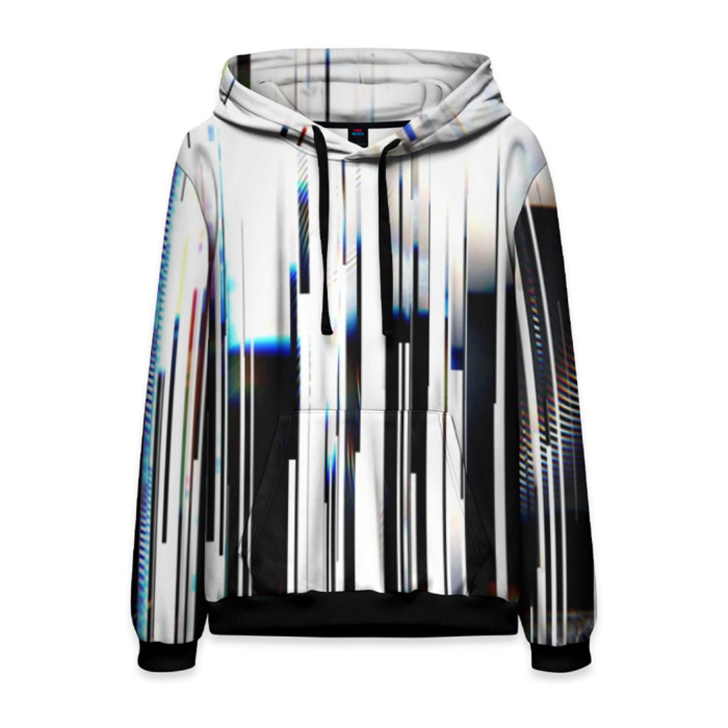 Reality Glitch Men/'s Over 9000 Hoodie